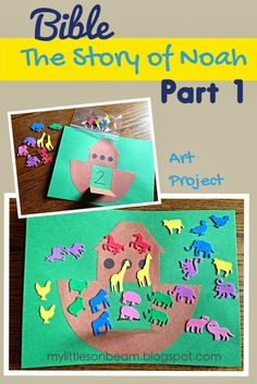 My Little Sonbeam: January Week 1: Bible {Noah part 1} Bible crafts, songs and lesson activities.  The animals came two by two into the Ark. God told Noah to build an ark. Genesis 6:9-22.   {Homeschool preschool learning activities for ages 2 3 4}