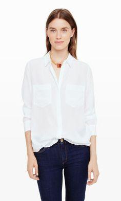 Maraie Silk Shirt - Club Monaco Long Sleeve - Club Monaco