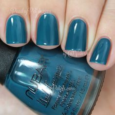 Nubar Lush | Fall 2014 FALLing In Love Collection | Peachy Polish - looks a lot like KBShimmer Sky Jinks #blue