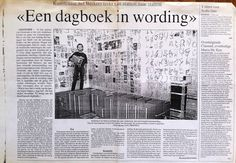 Sef Berkers. 'A growing journal'. An article in Het Belang van Limburg about the exhibition 'Je suis à la gare 2' in the NMBS-station of Ostend, Belgium.