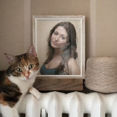 Place your picture on the wall of a cosy house with a kitty next to it with this free photo effect. PhotoFunia can help spice up any  photo and will give you hours of fun.