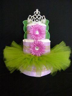 Fairy Princess Tutu Baby Diaper Cake. $80.00, via Etsy.