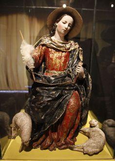 La Divina Pastora, atribuido a Bernardo de Legarda, Escuela Quiteña.