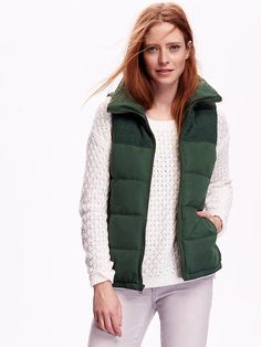 Women's Mixed-Fabric Frost Free Vest Product Image
