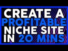 How to Create a Niche Site that Brings in $500/Month - YouTube