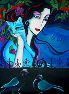 blues (Painting) by Yasemin Karabenli