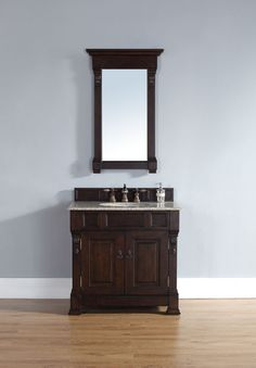 """James Martin 147-114-5561 Brookfield 36"""" Single Cabinet in Burnished Mahogany (TOP NOT INCLUDED)"""