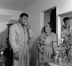 Muhammad Ali with his mother Odessa Clay.