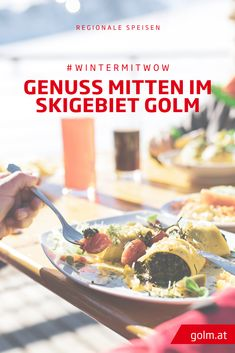 Panorama-Restaurant Grüneck am Golm Restaurant, Regional, Breakfast, Food, Fine Dining, Patio, Long Distance, Apple Strudel, Ski