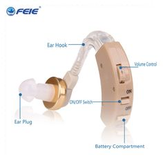 Personal Deafness Hearing Aid Ear Care Wireless Earphone Deaf Audiofone S-8B Free Shipping With Battery A13