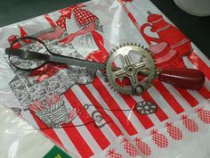 Vintage Red Handled  A Egg Beater by 23burtonavenue on Etsy, $9.00