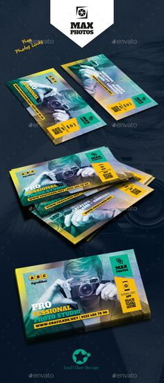 Photography Business Card Templates  — PSD Template #modern #camera • Download ➝…