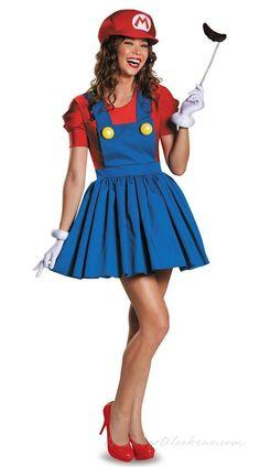 Super Mario Kostumer til Kvinder Blikkenslager Kostume