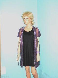 Cute! Brand New w/Tags Two Piece Dress & Jacket Set By DBY Ltd. Purple w/Silver  #DBYLTD #Clubwear