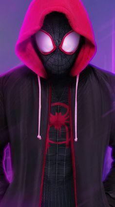 Spiderman Into The Spider Verse Iphone Wallpaper Heros Pinterest