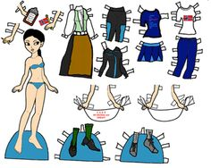 Marisole Monday Paper Dolls Colored by Melinda with some original clothes