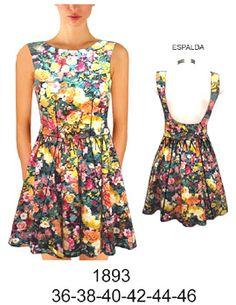 vestidos de modal floreados cortos - Buscar con Google