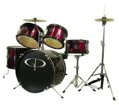 GP Percussion 5 Piece Junior Drum Set by GP Percussion. $215.77. This GP Percussion 5-Piece Junior Drum Set helps your child learn to play drums. Designed on a smaller scale than the typical drum set, this set is perfect for helping young students develop the coordination necessary to play the drums. With a hi-hat, snare, tom, floor tom, bass drum, cymbal and stands, this set is just like the full size version. Features fully tunable top and bottom heads, real wood shell...