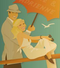 custom portrait www.shanashay.com #savethedatecard #weddinginvitation #shanashay #vectorillustration