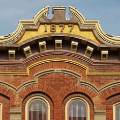 1877 ornate building On the Town Square in Liberty, Mo., USA.