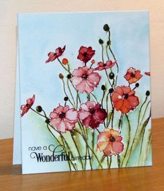 Bouquet de Poppies by Micheline Jourdain - Cards and Paper Crafts at Splitcoaststampers