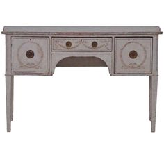19th Century Swedish Writing Desk in the Gustavian Style | From a unique collection of antique and modern desks at https://www.1stdibs.com/furniture/storage-case-pieces/desks/