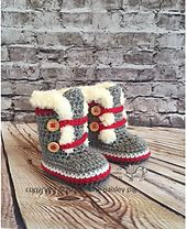 Super cozy and fun booties for the special little one in your life. This easy to advanced beginner pattern works up in just a few hours.