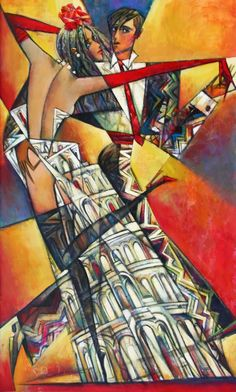 Impressionist artist Andrei Protsouk Born in Donet'sk, Ukraine in Andrei was self-motivated to paint and draw from a young age. After training he later in lived in the United States. Tango Art, Dance Paintings, Gallery Website, Art Deco, Couple Art, Urban Art, Contemporary Artists, Female Art, Collage Art