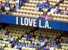 I Love L.A. Let's Go Dodgers, Dodgers Nation, Dodgers Baseball, Dodger Game, Dodger Stadium, Mlb Teams, Sports Teams, No Crying In Baseball, Go Blue