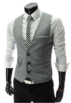 Tunevuse Men's Casual Fashion Business Slim Suit Vests Asian XX-Large Light Gray Tunevuse http://www.amazon.com/dp/B010V1J8DC/ref=cm_sw_r_pi_dp_V-J8vb1D52SAT