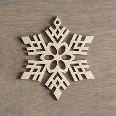 Madera copo de nieve 10 cm Navidad decoración de por MemelCraft