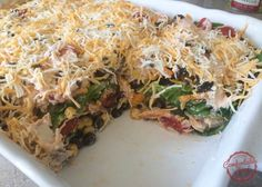 Barbecue Chicken Ranch layered salad