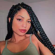 ⚡️⚡️ ¿Te gusta lo que ves? Baddie Hairstyles, Box Braids Hairstyles, Quick Hairstyles, Formal Hairstyles, Protective Hairstyles, Straight Hairstyles, Afro Braids, Twist Braids, Twists