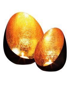 DIY inspiration-Metal Egg Candleholders