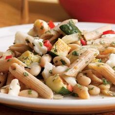 Zucchini, Fennel & White Bean Pasta Recipe