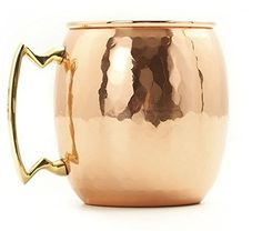 SALE Moscow Mule by James Scott 16 oz Hammered Solid Copper Mug with Brass Handle  Gift Box * Read more at the image link.