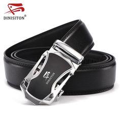 8278c8e2b9de3 Belt Men Good Quality Genuine Luxury Leather Men s Belts for Men Male Metal  Automatic Buckle. Herrengürtel