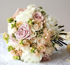 A vintage mix of English country blooms
