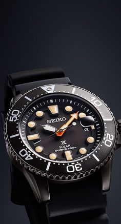 "3f24a89cf15 The Seiko Prospex ""Black Series"" is inspired by the world of night diving"