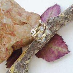 Blautopas-teilvergoldet-Bandring-Ring-19-0-mm-925-Sterling-Silber