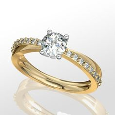 D34045 - Alba Rose Diamond and yellow gold engagement ring