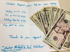 Zachary and Josh took a sign around their neighborhood and offered to do chores for their neighbors to raise money for East Tennessee Children's Hospital. They mailed us on an envelope with $40. Thanks Zachary and Josh for your extreme kindness and selflessness!