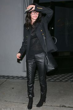 Sartorial sauciness: Heading to the Hollywood hot-spot Craig's, the 52-year-old actress en...