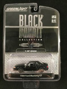 Greenlight Black Bandit Collection Series 6 1989 FORD MUSTANG GT 1:64 Limited  #Greenlight #Ford