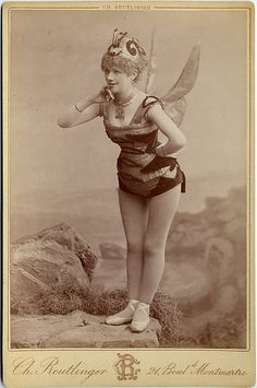 Dancer with Insect Wings Cabinet Card