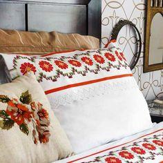 Jogo de cama solteiro branco p.cruz flores e vagonite – Linha Anchor Mouliné