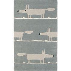 BuyScion Mr Fox Rug, L200 x W140cm, Silver Online at johnlewis.com