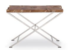 Virginia Console Table - obsessed with the mix of rustic & industrial