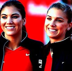 Alex Morgan and Hope Solo!!! My favorites!!