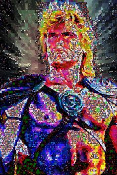 """""""By the power of Greyskull!""""-Dolph Lundgren made out of abstracts""""Dimension 60 x 40 Inches"""